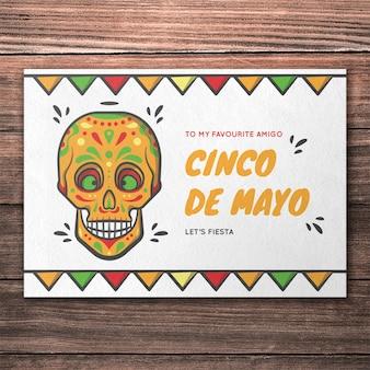 Maquete de capa de cinco de maio colorido