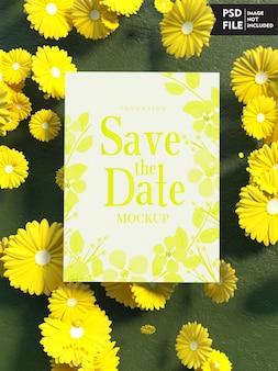 Maquete de capa de convite de casamento