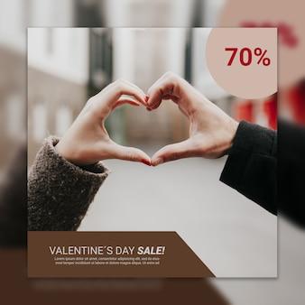 Maquete de capa de dia dos namorados com imagem