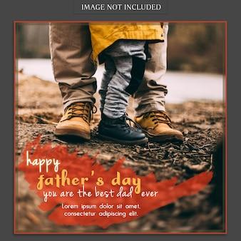 Maquete de capa de dia dos pais com pés