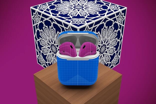Maquete de capa de fone de ouvido árabe