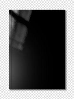 Maquete de capa de livreto preto