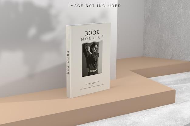 Maquete de capa de livro com sobreposição de sombra