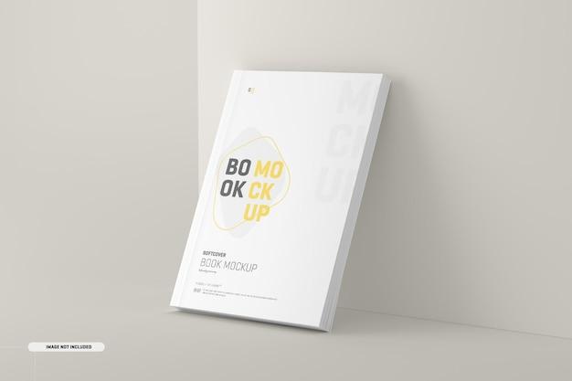 Maquete de capa de livro de capa mole