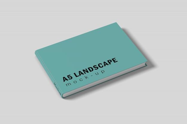 Maquete de capa de livro de paisagem psd grátis