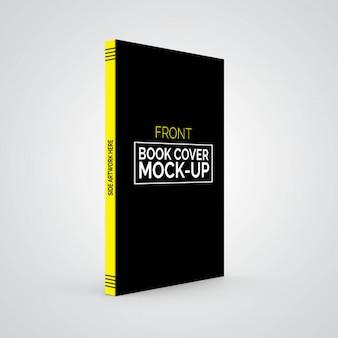 Maquete de capa de livro frontal