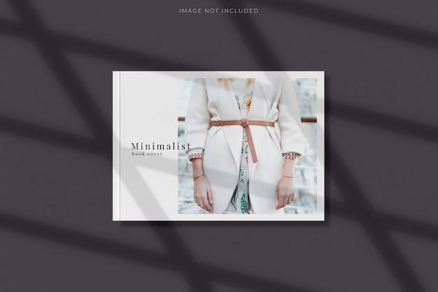 Maquete de capa de livro minimalista com sobreposição de sombra