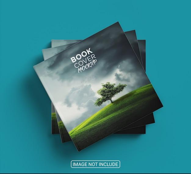 Maquete de capa de livro minimalista com vista superior