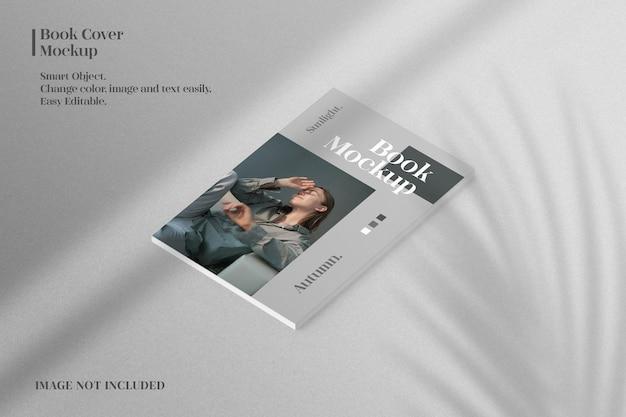 Maquete de capa de livro minimalista e realista