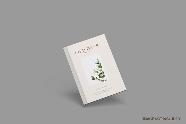 Maquete de capa de livro minimalista