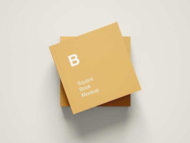 Maquete de capa de livro quadrada