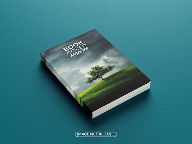 Maquete de capa de livro realista com vista de ângulo superior