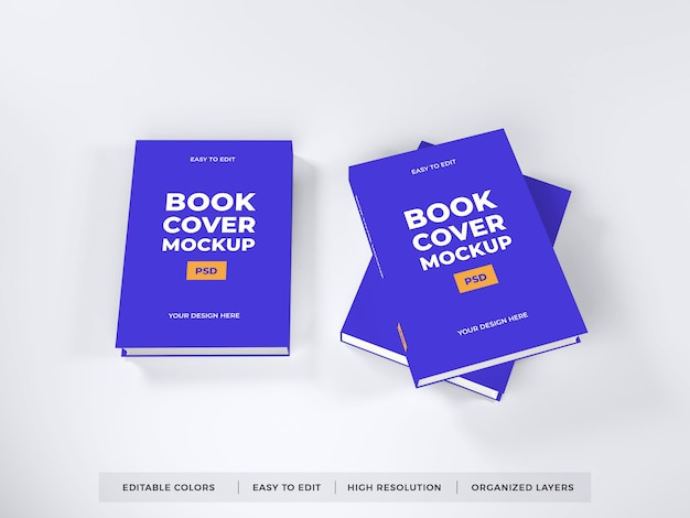 Maquete de capa de livro realista