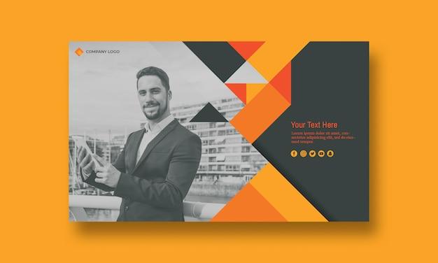 Maquete de capa de negócios com imagem