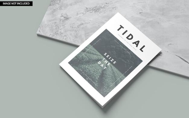 Maquete de capa de revista a4