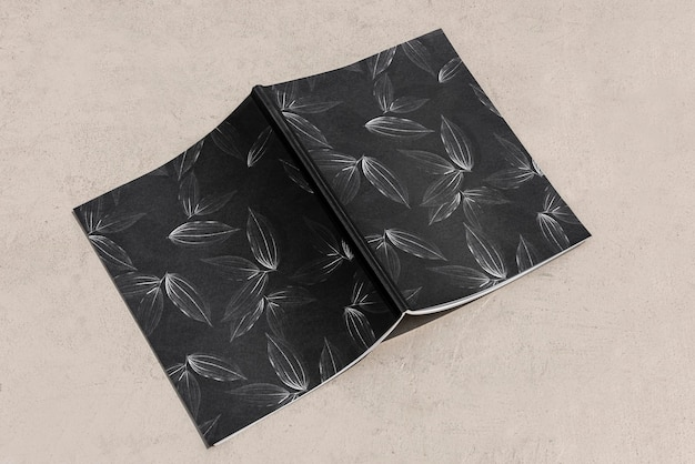 Maquete de capa de revista floral psd leitura de verão