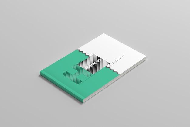 Maquete de capa de revista horizontal