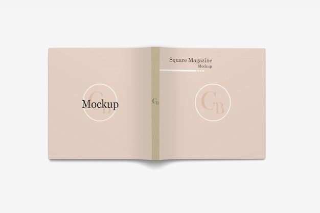 Maquete de capa de revista quadrada