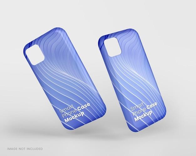 Maquete de capa de smartphone em renderização 3d