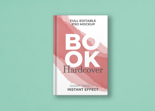 Maquete de capa dura de livro