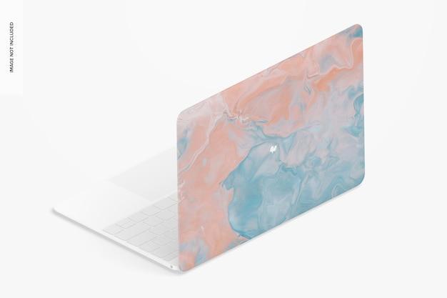 Maquete de capa dura de plástico, vista direita isométrica