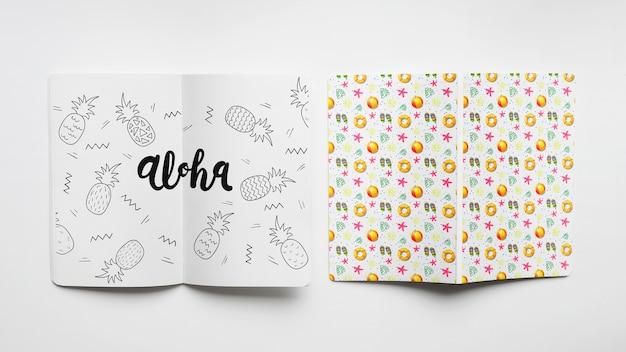 Maquete de capa e papel