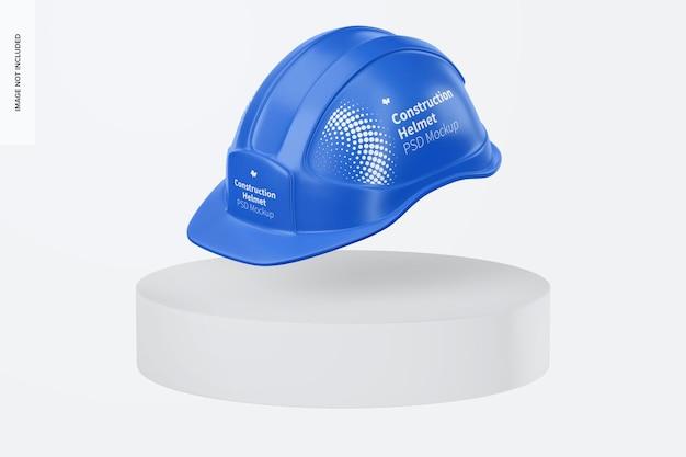 Maquete de capacete de construção, flutuante