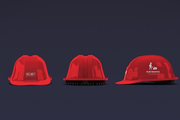 Maquete de capacete de construção isolada