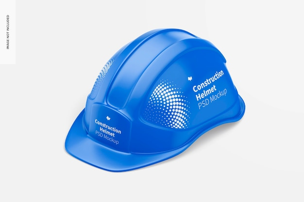Maquete de capacete de construção, vista esquerda isométrica