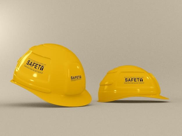 Maquete de capacete de construção