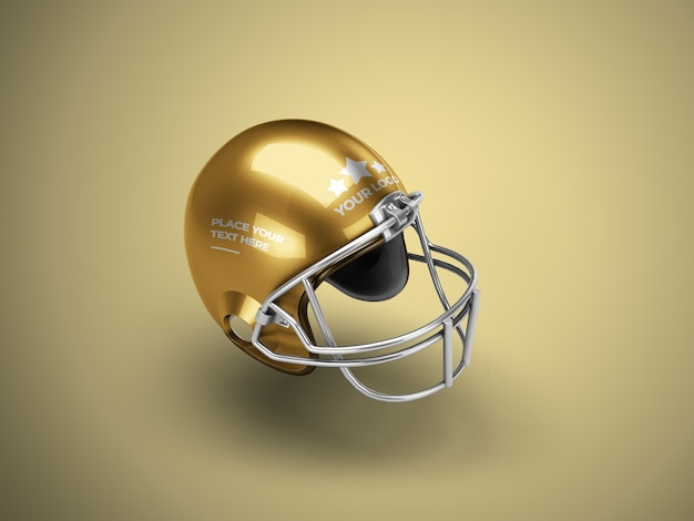 Maquete de capacete de futebol isolado