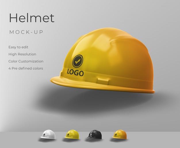 Maquete de capacete realista