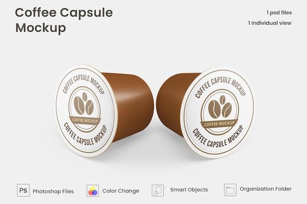 Maquete de cápsula de café