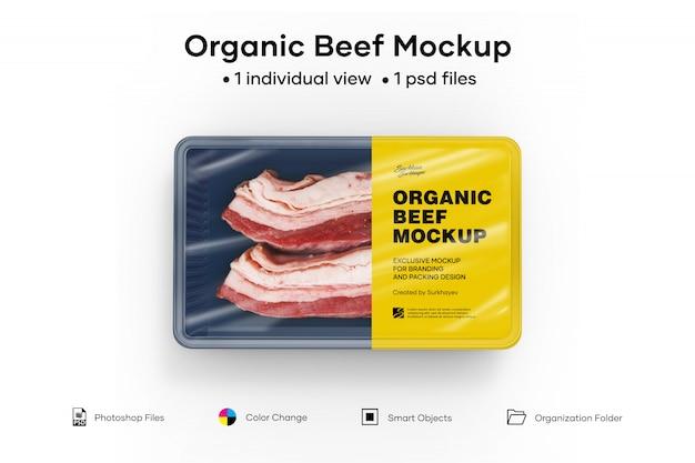 Maquete de carne orgânica