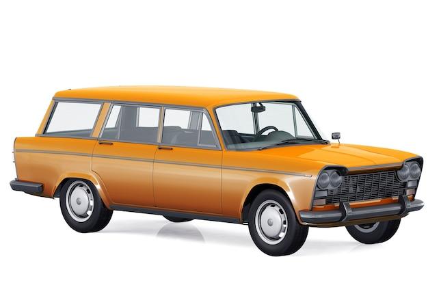 Maquete de carro combi retro wagon 1963