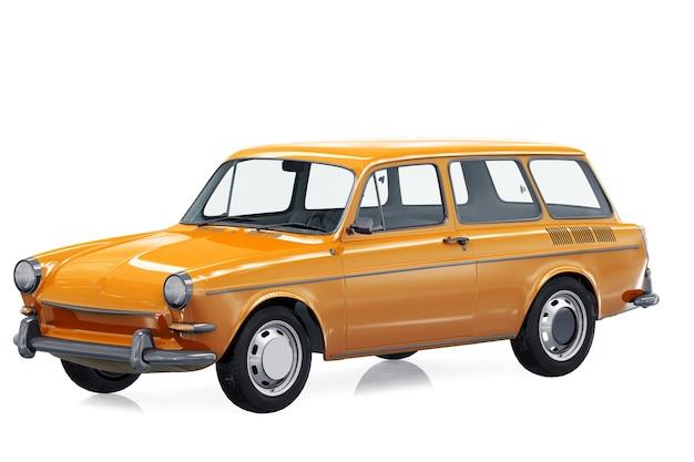 Maquete de carro combi retro wagon 1965