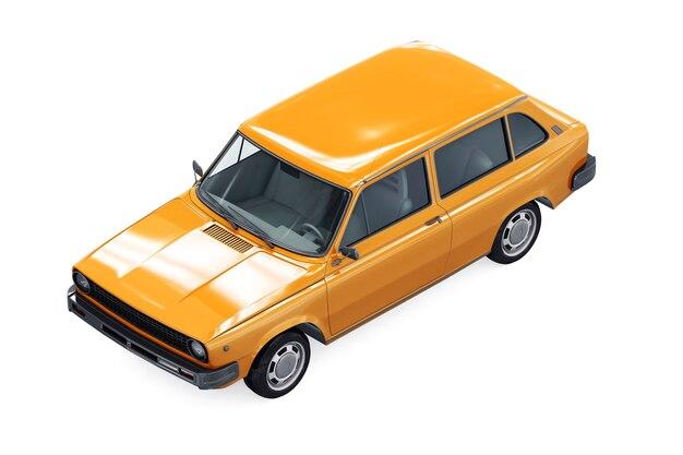 Maquete de carro combi retro wagon 1975