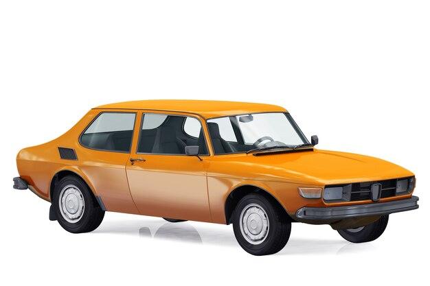 Maquete de carro cupê retrô de 1972