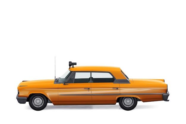Maquete de carro sedan vintage