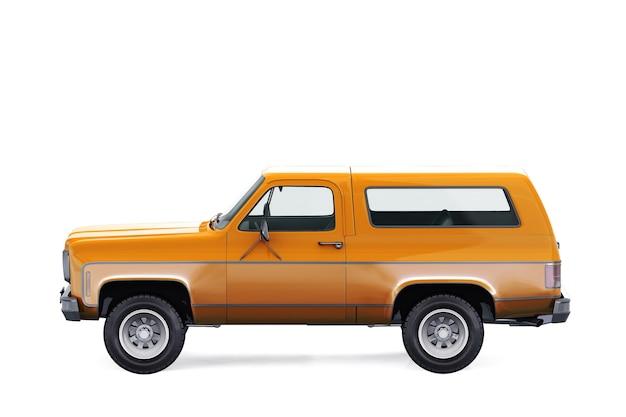 Maquete de carro suv 4x4 retro 1976