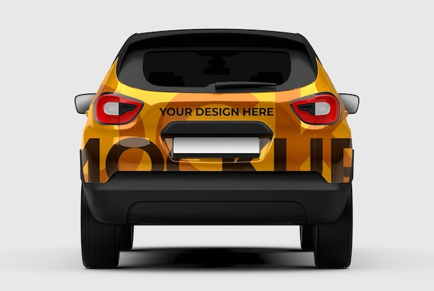 Maquete de carro suv em 3d para apresentações de marcas e publicidade