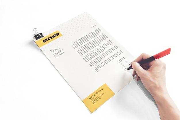 Maquete de carta comercial a4