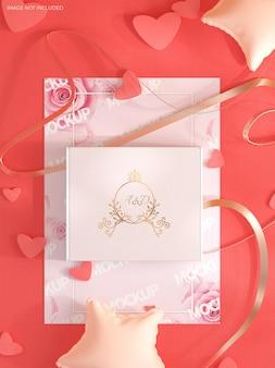 Maquete de carta de convite de casamento