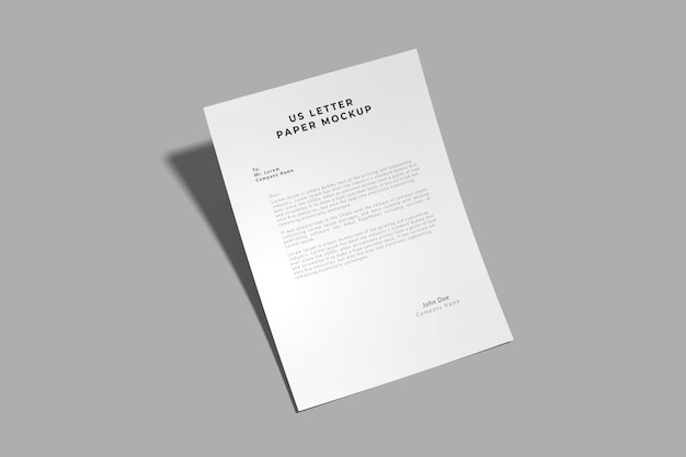 Maquete de carta para nós