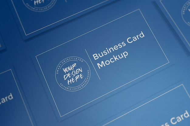 Maquete de cartão azul clássico