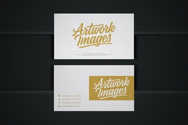Maquete de cartão branco com logotipo
