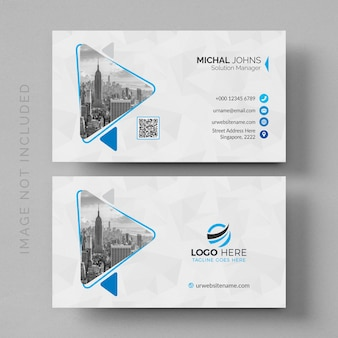 Maquete de cartão branco moderno