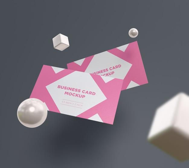 Maquete de cartão com primeiro plano desfocado