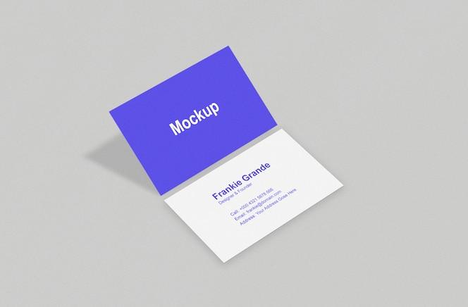 maquete de cartão com sombra dobrada