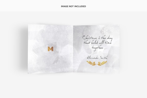 Maquete de cartão comemorativo